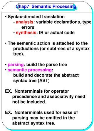 Chap7  Semantic Processing