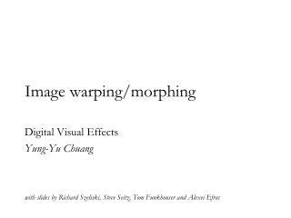 Image warping/morphing
