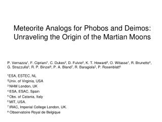 Meteorite Analogs for Phobos and Deimos: Unraveling the Origin of the Martian Moons