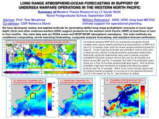 LONG RANGE ATMOSPHERE-OCEAN FORECASTING IN SUPPORT OF