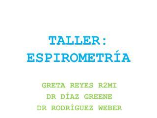 TALLER: ESPIROMETRÍA