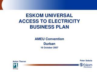 AMEU Convention Durban  16 October 2007