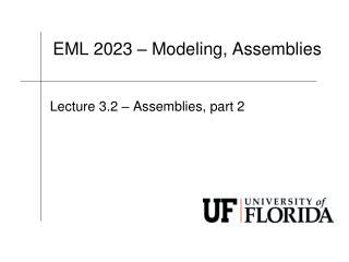 EML  2023 – Modeling, Assemblies