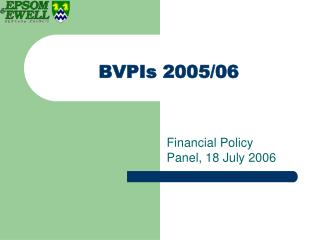 BVPIs 2005/06
