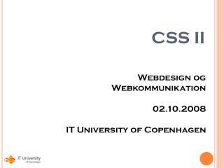 CSS II