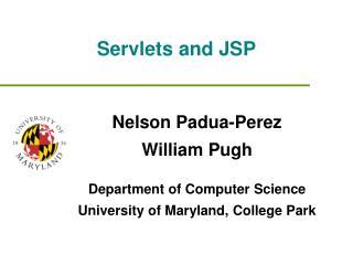 Servlets and JSP