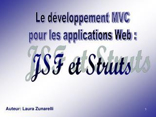 Le développement MVC pour les applications Web :