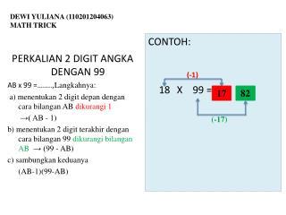 DEWI YULIANA (110201204063) MATH TRICK