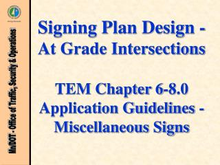 Application Guidelines - Misc. Signs