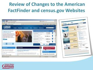 Review of Changes to the American  FactFinder  and census Websites