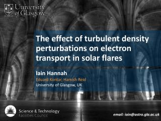 The effect of turbulent density perturbations on electron transport in solar flares