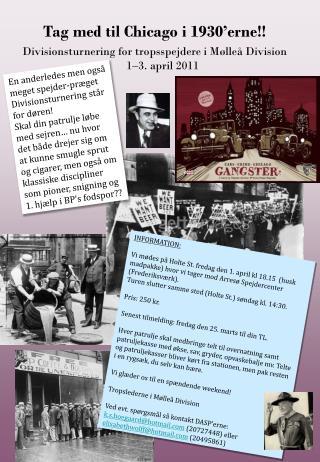 Tag med til Chicago i 1930'erne!!