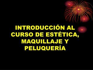 INTRODUCCIÓN AL CURSO DE ESTÉTICA, MAQUILLAJE Y PELUQUERÍA