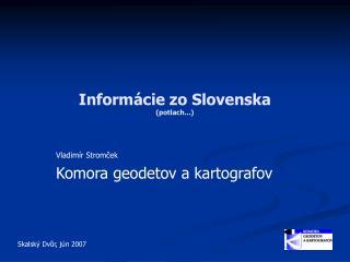 Informácie zo Slovenska (potlach...)