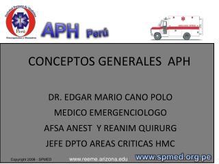 CONCEPTOS GENERALES  APH