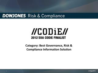 Category: Best Governance, Risk & Compliance Information Solution