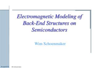 Electromagnetic Modeling of Back-End Structures on Semiconductors