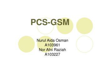 PCS-GSM