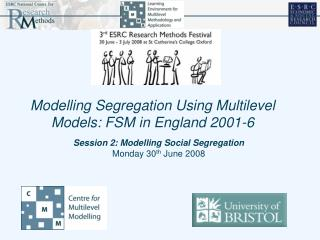 Session 2: Modelling Social Segregation Monday 30 th  June 2008