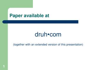 Paper available at