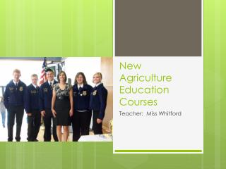 New Agriculture Education Courses