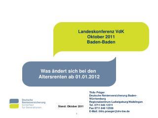 Landeskonferenz VdK Oktober 2011 Baden-Baden