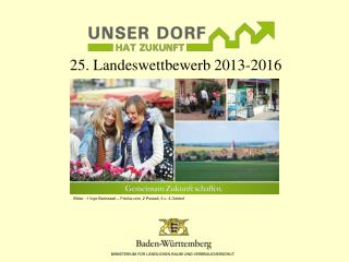25. Landeswettbewerb 2013-2016