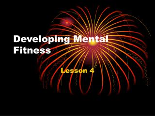 Developing Mental Fitness