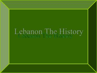 Lebanon The History