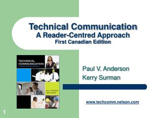 Technical Communication A Reader-Centred Approach First Canadian Edition