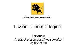 Lezioni di analisi logica
