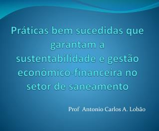 Prof  Antonio Carlos A. Lobão