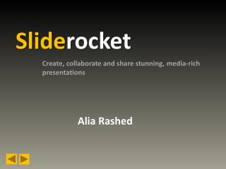 sliderocket by Alia Rashed