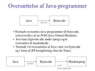 Oversættelse af Java-programmer