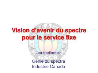 Vision d'avenir du spectre pour le service fixe