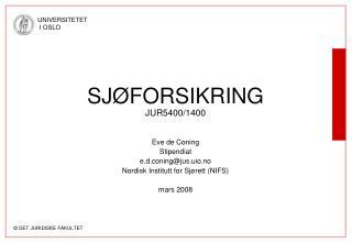 SJ FORSIKRING JUR5400