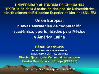 Unión Europea:  nuevas estrategias de cooperación académica, oportunidades para México
