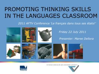 PROMOTING THINKING SKILLS IN THE LANGUAGES CLASSROOM