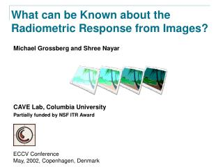 What can be Known about the Radiometric Response from Images?