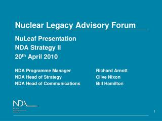 Nuclear Legacy Advisory Forum