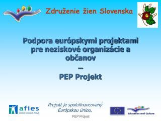 Podpora európskymi projektami pre neziskové organizácie a občanov  –  PEP Projekt