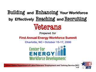 United States Department of Labor/Veterans� Employment and Training Service [NC]