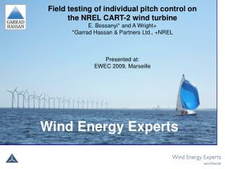 Field testing of individual pitch control on the NREL CART-2 wind turbine