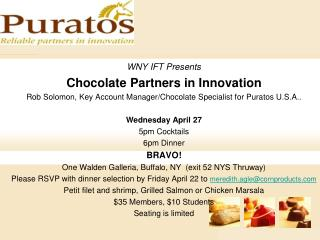 WNY IFT Presents Chocolate Partners in Innovation