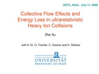 Collective Flow Effects and Energy Loss in ultrarelativistic Heavy Ion Collisions