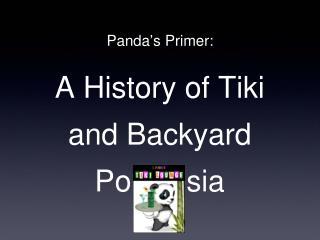 Panda ' s Primer: