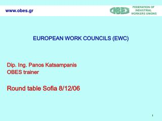 EUROPEAN WORK COUNCILS (EWC)