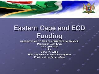 Eastern Cape and ECD Funding