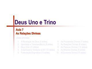 Deus Uno e Trino