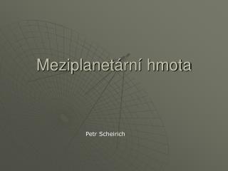 Meziplanet ární hmota